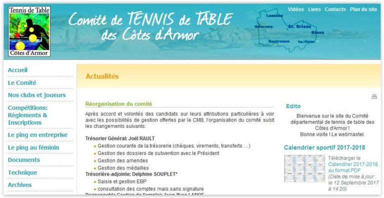 Comité de Tennis de Table des Côtes d'Armor